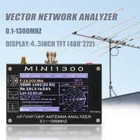 Analizador de antena MINI1300 0,1-1300MHz HF VHF UHF ANT SWR, pantalla táctil Digital de 4,3 pulgadas con tarjeta TF