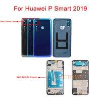 P Akıllı 2019 Arka Pil Kapağı Konut durumda Için Orta Çerçeve Ile Huawei P Akıllı 2019 POT LX3 POT L23 POT LX1 POT L21|Cep telefonu yuvası|Cep telefonları ve Telekomünikasyon Ürünleri -