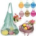 Umweltschutz Einkaufstaschen faltbare Mesh Net String Einkaufstasche Reusable einkaufstaschen Obst Lagerung Handtasche