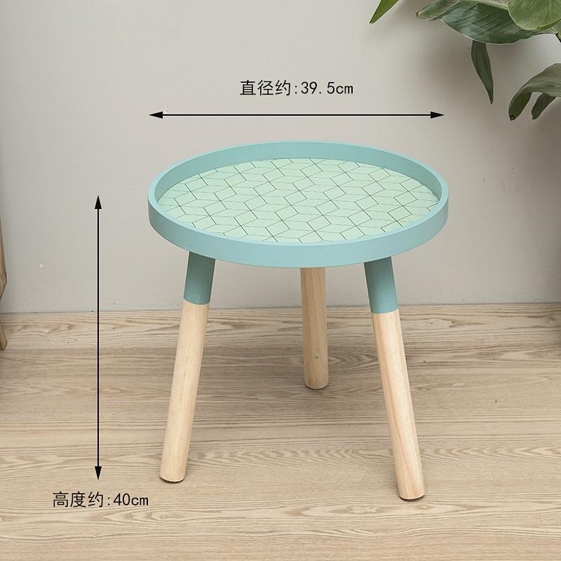 Луи Мода журнальные столы маленькие, круглые, мини прикроватные, простые спальни, прикроватные, твердой древесины угловой - Цвет: S2