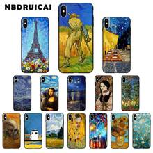 NBDRUICAI Van Gogh TPU Soft Silicone Phone Case Cover for iPhone 11 pro XS MAX 8 7 6 6S Plus X 5 5S SE XR case babaite van gogh tardis tpu soft silicone phone case cover for apple iphone 8 7 6 6s plus x xs max 5 5s se xr mobile cover