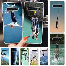BaweiTE Bungee jumping Soft Shell Phone Case Capa For Samsung S6 S7 S7 edge S8 S8 Plus S9 S9 Plus S10 S10 plus S10 E(lite)(China)