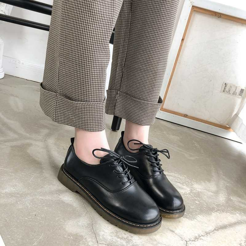 Genuine Leather Shoes Women's Oxfords 2020 New Luxury Oxford casual Woman  Comfortable Loafers Shoes Flats Ladies Moccasins Shoes|Women's Flats| -  AliExpress