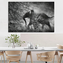 Nordic Art Elephant Walking Moment Abstract Fashion Style Canvas Painting Art Print Poster Picture Wall Living Room Home Decor nordic art elephant walking moment abstract fashion style canvas painting art print poster picture wall living room home decor