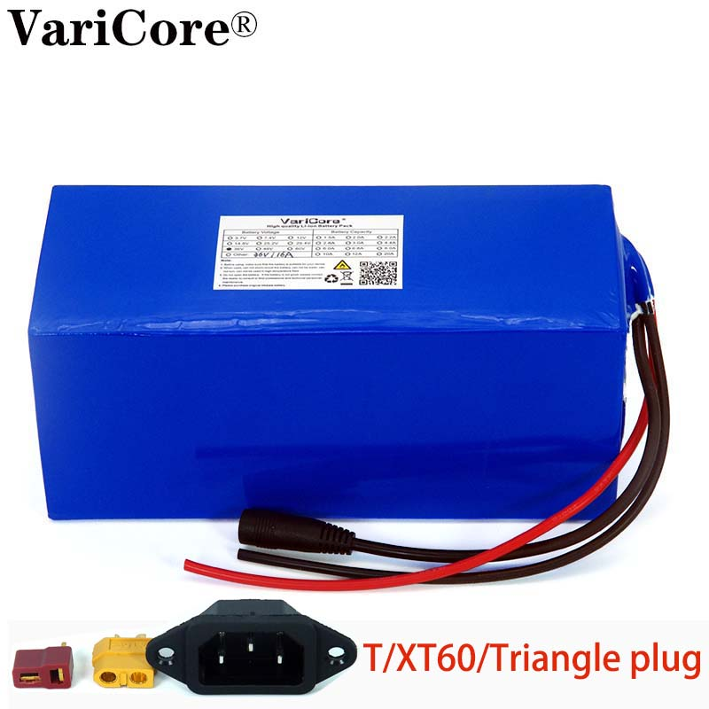 36V 16ah 18650 Lithium Battery Pack And 1000Watt 20A Bms Protection 16000mAh Backup Power Supply T/XT60/Triangle Plug