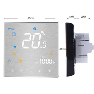 Image 2 - Wifi termostato inteligente temperatura controle remoto/voz controlador para água/piso elétrico aquecimento água/caldeira a gás alexa tuya
