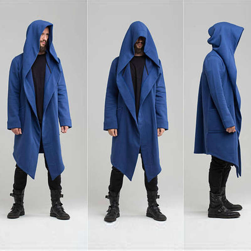 Ha5ca91241882487fb54b869900d5a4deM Unisex Winter Jacket Casual Open Stitch Hooded Long Cloak Cape Coat Cardigan Hoodie Jacket Women Men Pocket Coat Warm Trench hot