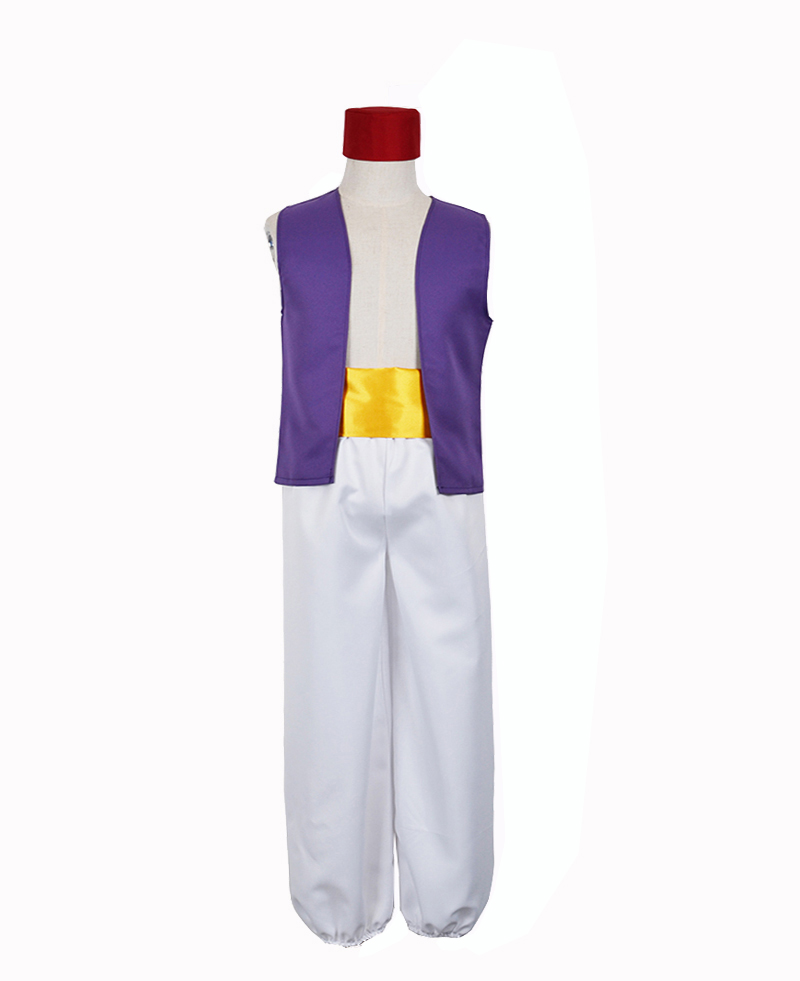 Aladdin And The Magic Lamp Aladdin Prince Dance Movie Cosplay Costume Halloween Carnival Mask Party Clothing For Adults&Kids