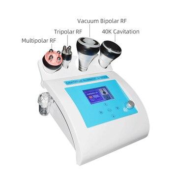 NEW 4 in 1 Vacuum Lipo Ultrasonic Cavitation Radio Frequency Multipolar RF Body Slimming Machine Skin Lifting Tighten Anti-wrink