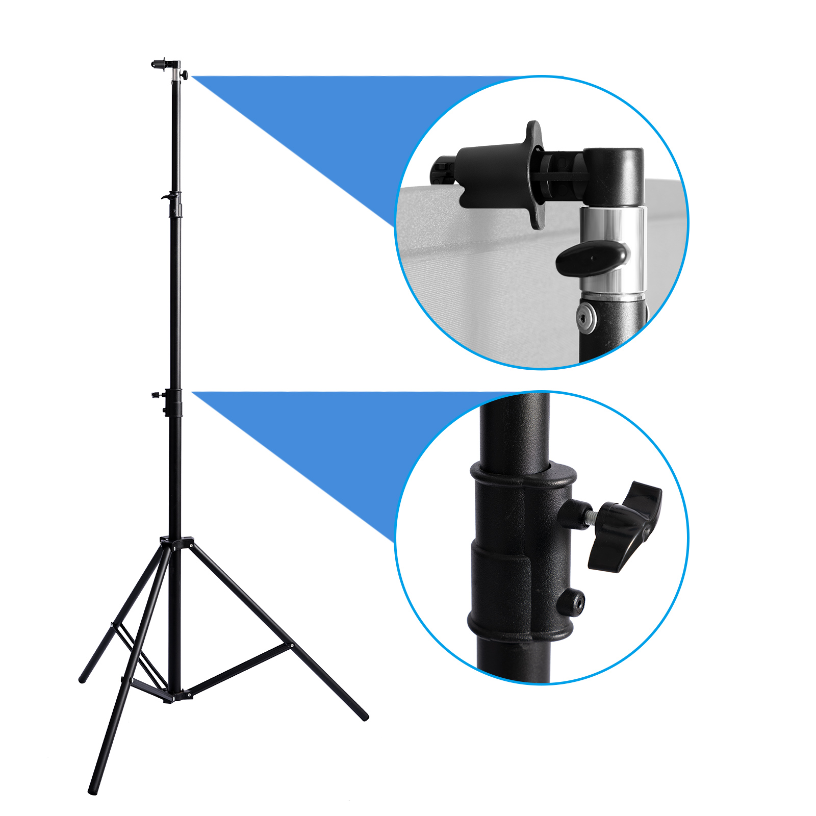 Professional Photography Light Stand Adjustable Tripod with clip For Reflector Backdrop Video Photo Youtube Studio kit