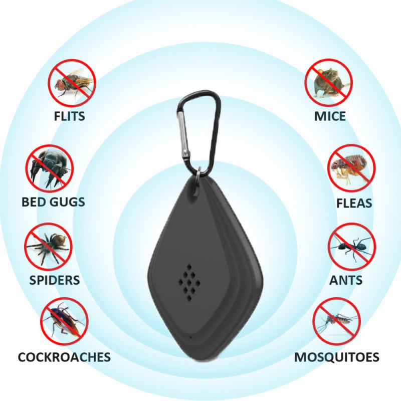 Ultrasonic Mini Mosquito Repeller Portable Hanging Non-Toxic Outdoor Electronic Ultrasound Anti-Mosquito Device For Travel