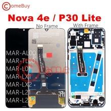 Comebuy lcd para huawei p30 lite display tela de toque com moldura para huawei nova 4e p30 lite tela MAR LX1M MAR LX2