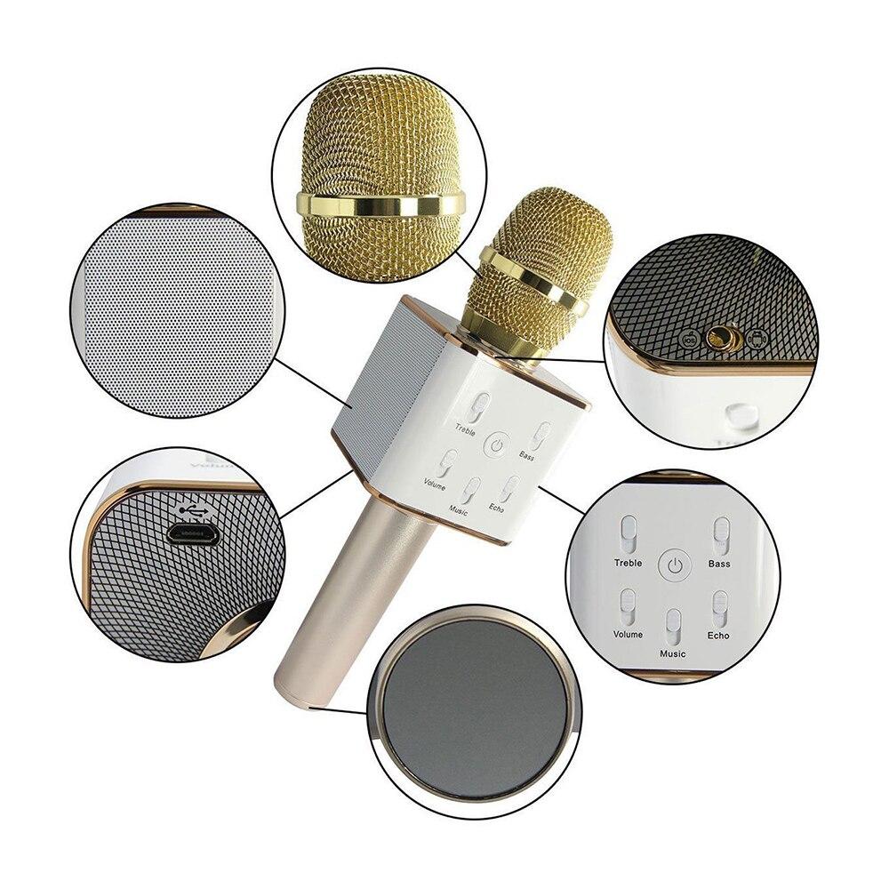 Speaker Portátil MIC USB Jogador KTV