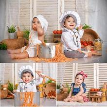 Recém nascido cozinha fotografia fundo porta de madeira pano de fundo chá de bebê crianças retrato festa estúdio fotográfico