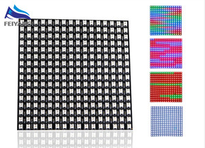 Image 1 - WS2812B WS2812 LED パネルデジタル柔軟なマトリックス 16*16 256 ピクセル個別にアドレス指定可能 DC5V 5050 RGB フル夢色 UW