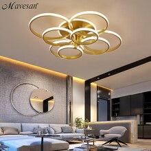 Acylic Plafondverlichting Vierkante Ringen Voor Woonkamer Slaapkamer Thuis AC85 265V Moderne Led Plafond Lamp Armaturen Glans Plafonnier