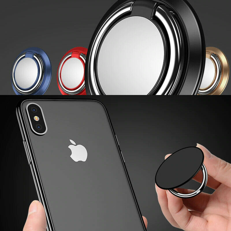 Finger Ring Holder Stand Grip 360 Rotating For Mobile Phone Car Magnetic Mount Phone Back Sticker Pad Unniversal Bracket