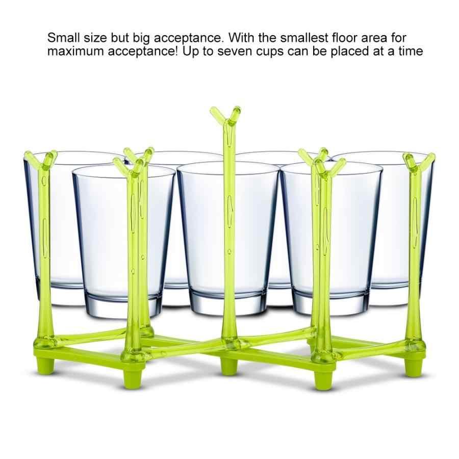 Taza soporte de vidrio soporte de biberón de alimentación para bebés secado de pezón soporte de almacenamiento plegable escurridor secador