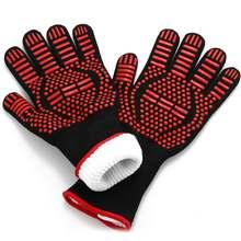 1 пара силиконовые перчатки для барбекю 300 500 градусов Цельсия