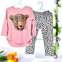 Girls Clothing Set Leopard Kids Clothes Girls