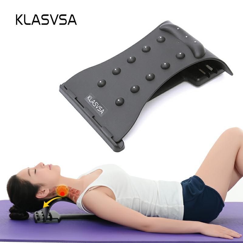 Klasvsa pescoço massagem cervical tração alívio da dor accupressure magia maca equipamentos de fitness estiramento relaxar|neck massager|cervical tractionpain relief - AliExpress