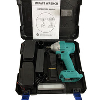 1850W Brushless Electric Wrench 320NM Brushless Cordless Impact Wrench Power Tool with Makita Battery Random Color