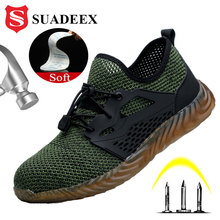SUADEEX Four Season Men Women Work Safety Shoes Air Mesh Anti Smashing Steel Toe Cap Puncture Proof Work Shoes For Dropshipping