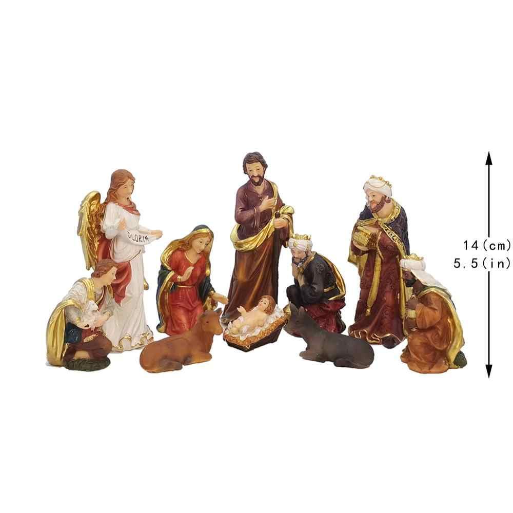 Zayton Statue Nativity Scene Set Christmas Crib Figurines Baby Jesus Manger Miniatures Ornament Church Catholic Gift Home Decor Statues Sculptures Aliexpress