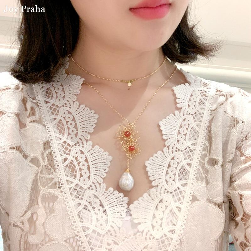 Collier pendentif femme perle originale/bijoux chaîne clavicule Simple/livraison directe en gros