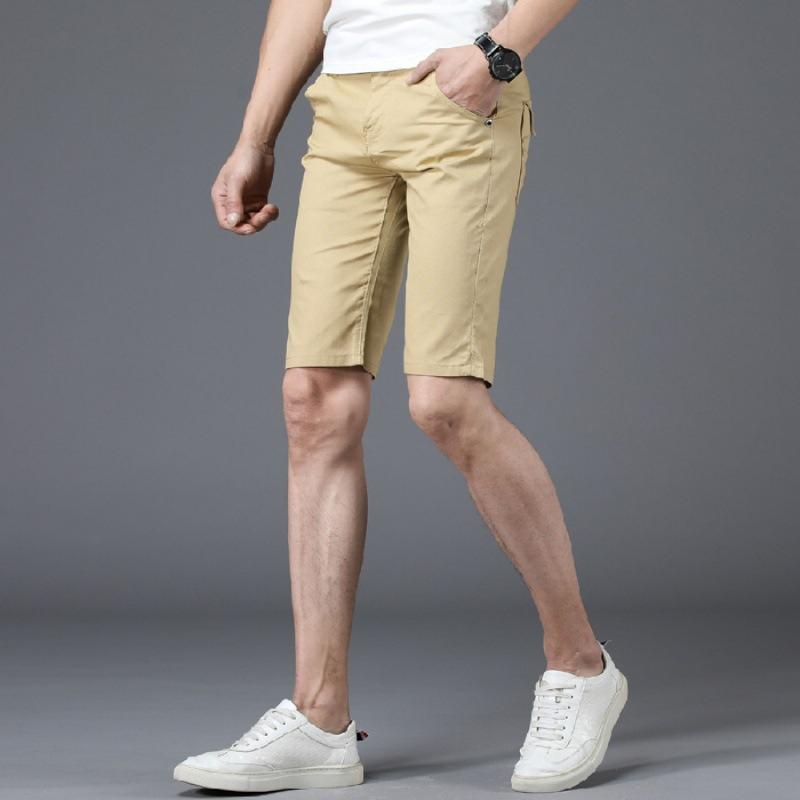 2019 Summer Thin Section Shorts Men's Summer Korean-style Slim Fit Shorts Fashion-Capri Shorts Men's Casual Shorts Sub-