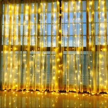 YINUO LIGHT 3M x 300 Curtain LED String Light Fairy Icicle Lights Christmas Garland Wedding Party Window Outdoor Decoration