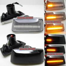 2 шт. динамический Светодиодный Боковой габаритный указатель поворота светильник последовательный мигалка для Chevrolet Cruze Opel Adam Meriva B Astra H Zafira Corsa