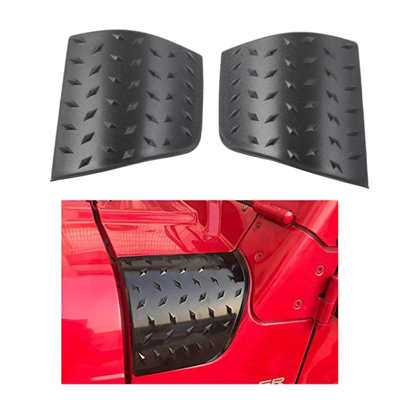 NEW-Hood Corner Guard Hooded Car Hood Armor Body Armor Hood Corner Guards for Jeep Wrangler Tj 1997-2006