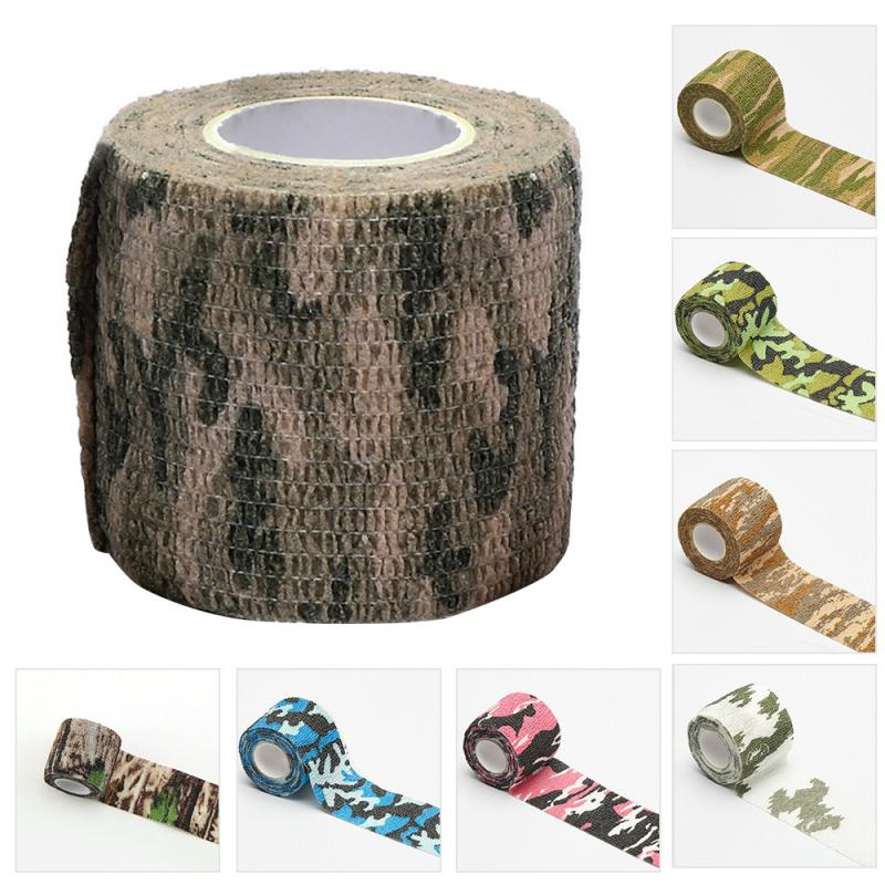 Random Color Camouflage Camo Elastoplast Adhesive Bandage Wrap Stretch Self Adherent Tape For Wrist Ankle Slices Sport 5 Sizes