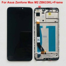 """6.26 """"เดิมสำหรับ Asus ZenFone MAX M2 จอแสดงผล LCD 10 Touch Screen Digitizer ASSEMBLY สำหรับ ZenFone MAX M2 ZB633KL ZB632KL + เครื่องมือ"""