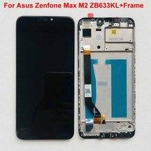 "6.26 ""orijinal Asus Zenfone Max için M2 LCD ekran 10 dokunmatik ekran Digitizer meclisi Zenfone Max M2 ZB633KL ZB632KL + aracı"