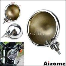 Chrome Motorcycle Headlamp Housing Light Shell 5.75