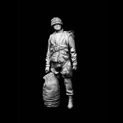 1/16 escala de resina sem pintura figura paraquedista britânico gk figura