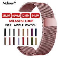 Milanese Loop Band For Apple Watch Band Strap 42mm 38mm Iwatch4 3 2 1 Mdnen Stainless Steel Link Bracelet Watch Magnetic Buckle