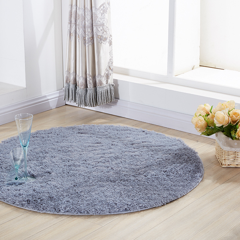 Soft Round Rug Carpets Chair Cove For Living Room Long Plush Carpet Kids Room Rugs For Bedroom Shaggy Area Rug Home Modern Mat