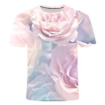 2020 T-shirt Men's Summer T-shirt Fun Rose Flower 3D T-shirt Chinese Style T-shirt Streetwear Graphic T-shirt Men's T-shirt t audel