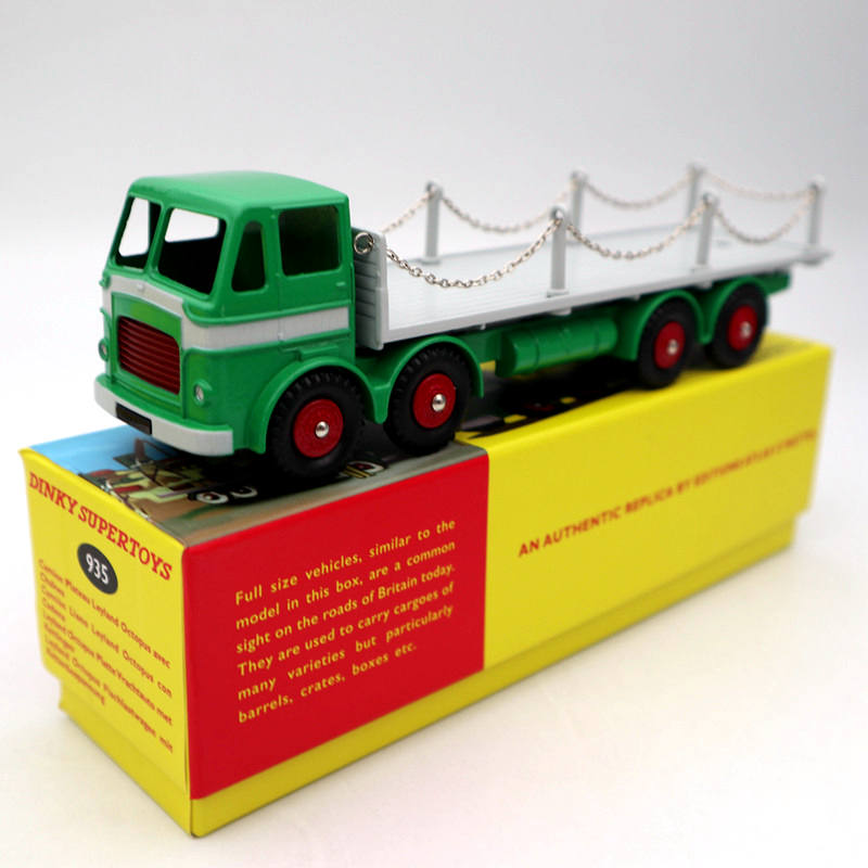 Atlas Dinky Toys 935 Leyland Octopus Flat Truck With Chains Diecast Models Collection