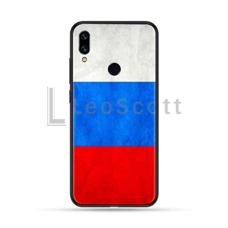 Rusya amerikan bayrağı amblem siyah TPU yumuşak telefon kılıfı kapak Xiaomi Redmi için not 4 4x5 6 7 8 pro S2 artı 6A PRO