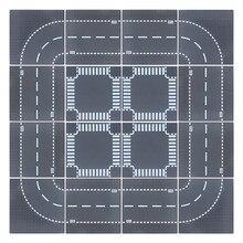 Ville route rue plaque de Base droite Crossroad courbe bricolage créateur blocs de construction ensembles Kit briques plaque de Base éducatifs enfants jouets