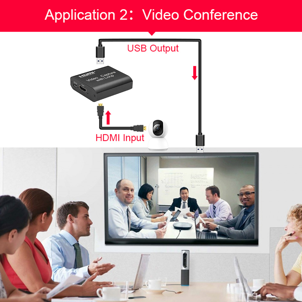 HDMI-compatible Capture Cards 1080P 4K USB 2.0 Video Recorders Boxes Game Live Streaming for Household Computer Safety Parts 2