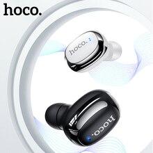 Hoco 미니 이어폰 블루투스 5.0 무선 이어폰 비즈니스 스포츠 헤드셋, Xiaomi Samsung 용 마이크 핸즈프리 스테레오 이어 버드 포함