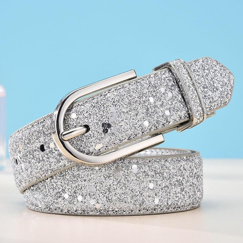 Fashion Luxury Brand Designer Silver Gold Pin Buckle Belts Women Girl 2020 Female Leisure Wedding Waist Strap Belt For Jeans
