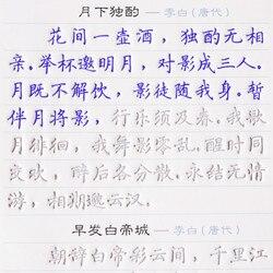 16 sztuk chińskiej kaligrafii zeszyt pióra kaligrafii pisma zeszyt dorosłych dzieci powtórzyć praktyki zeszyt ćwiczeń Groove
