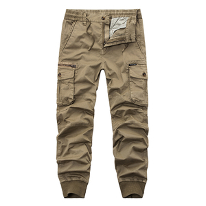 Image 3 - New 2019 Brand Casual Joggers Solid Breathable Pants Men Summer Army Military Style Trousers Mens Tactical Cargo Pants Male