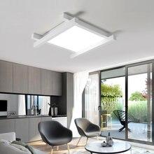 Современный минималистичный белый квадратный светодиодный потолочный